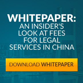 Fees For Legal Services In China